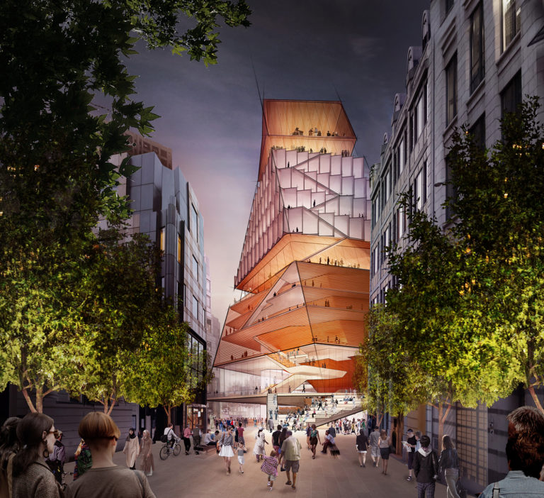 London's Barbican, the London Symphony Orchestra, the Guildhall School of Music & Drama, and Diller Scofidio + Renfro have unveiled the first renderings of the Centre for Music. Image: Courtesy of Diller Scofidio + Renfro.
