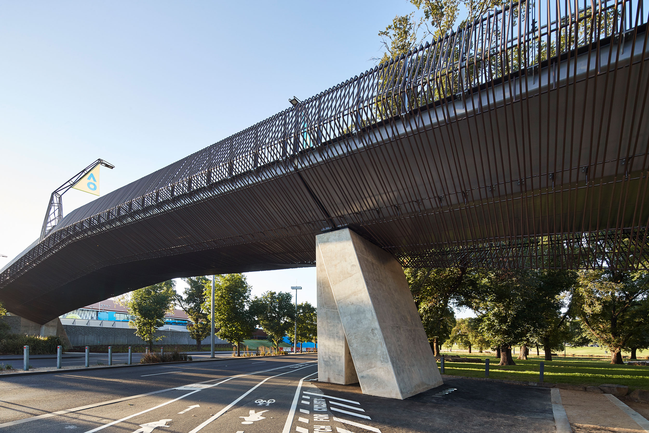 Tanderrum Bridge by John Wardle Architects; NADAAA; and OCULUS. Photo: Kristoffer Paulsen.